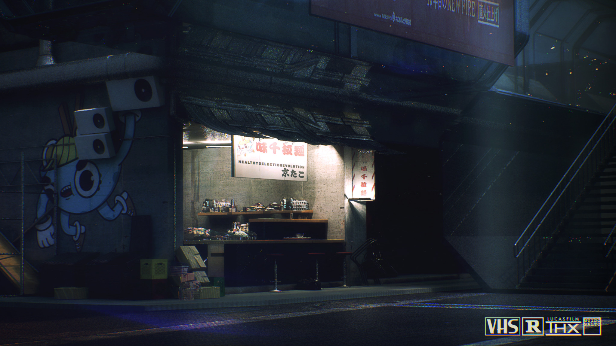 The Ramen Bar, No Cyberpunk city is complete without this one