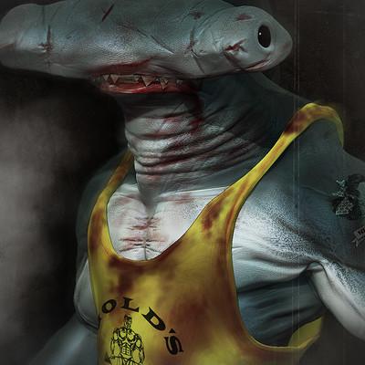 Hammerhead Bodybuilder Shark