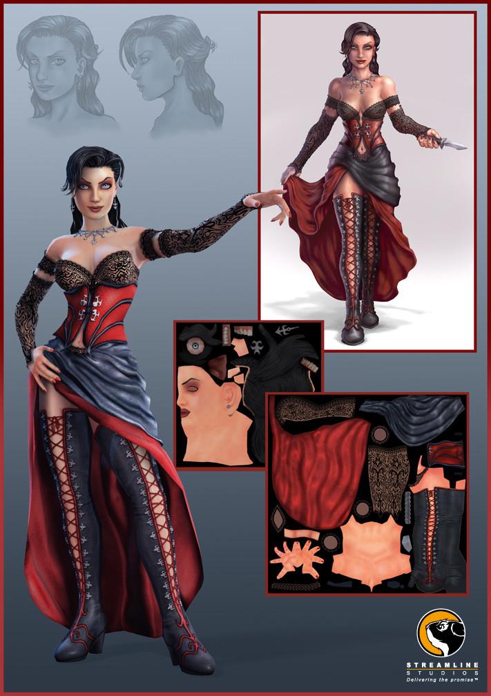 Velvet model textured by me.