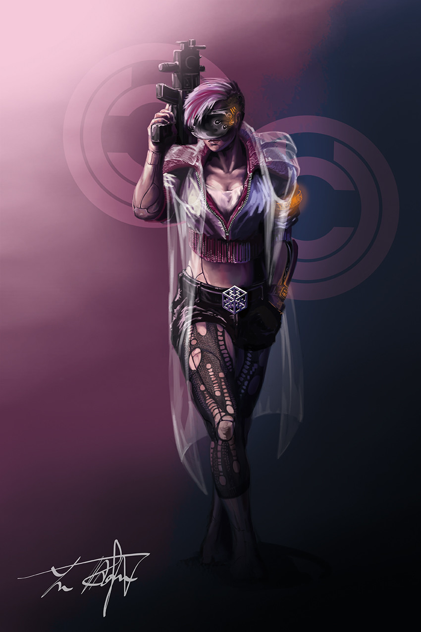 Yun nam cyberpunk character 2b w coat 72