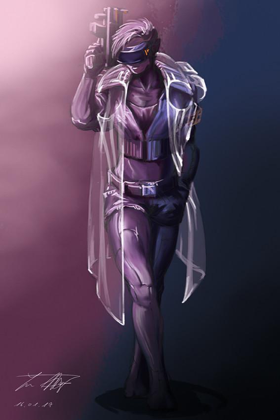 Yun nam 17 01 16 cyberpunk character 2b c