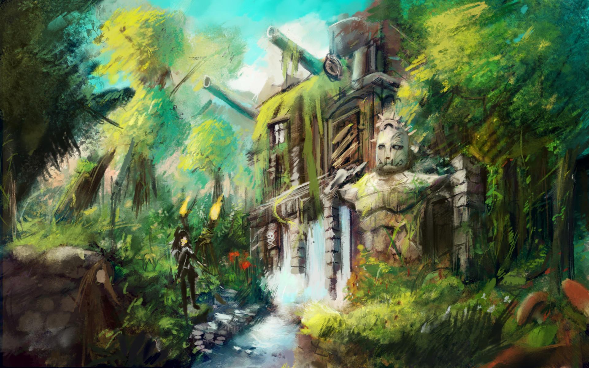 Artstation steampunk jungle planet ryan morgan - Plante jungle ...
