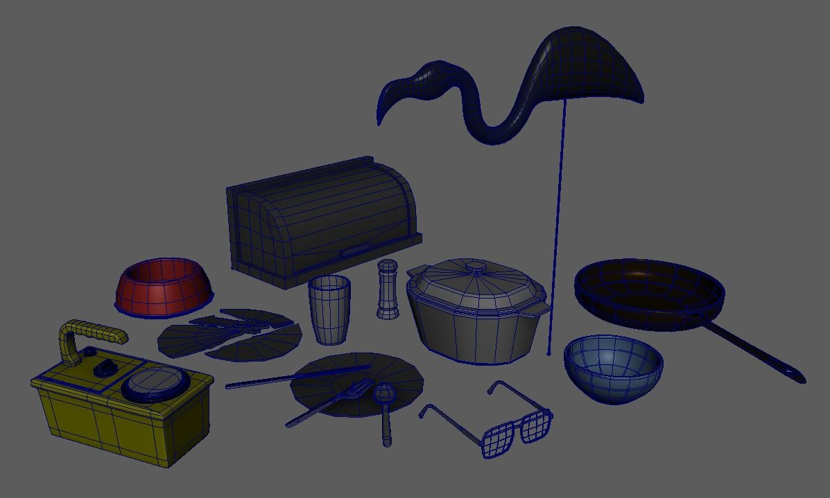 small props, lowpoly models