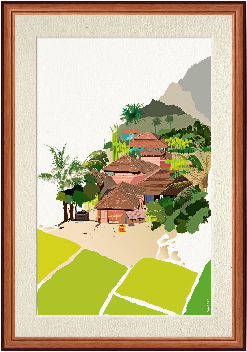 Rajesh sawant konkan framed