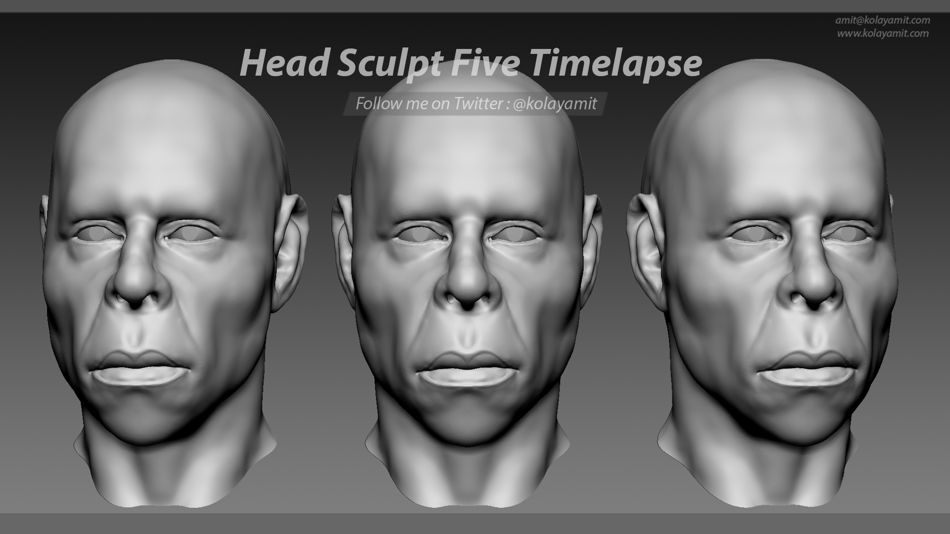 Head Sculpt Five Timelapse