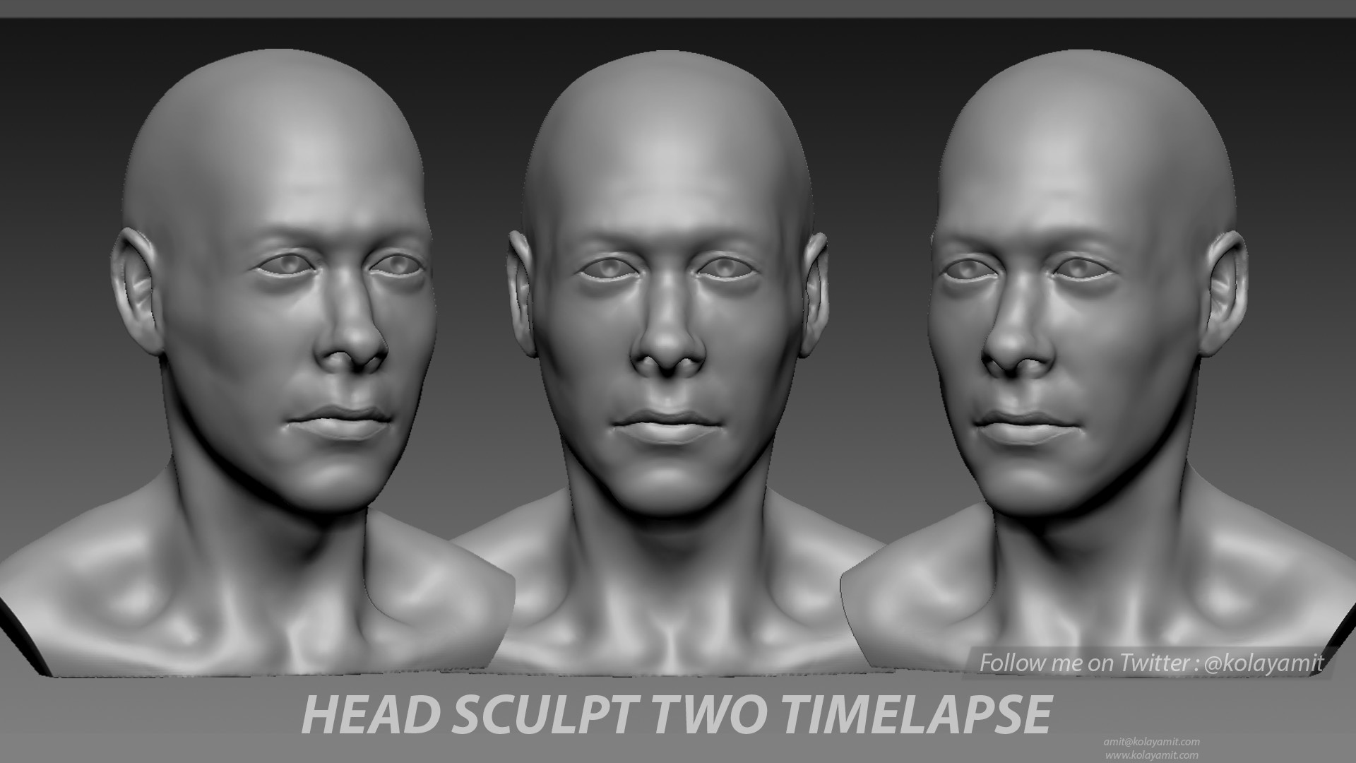 Head Sculpt Two Timelapse.