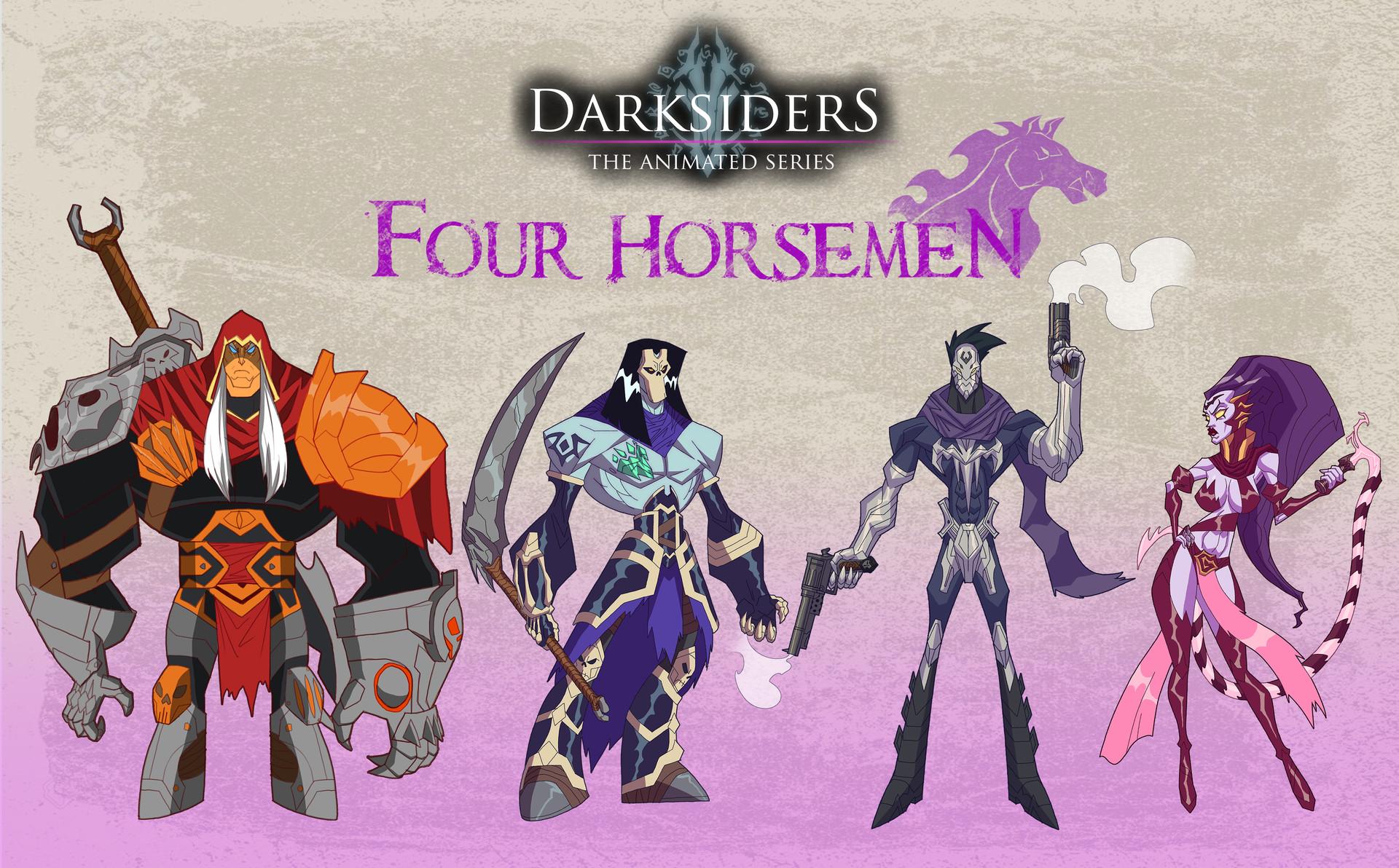 ArtStation - Darksiders Four Horsemen Line Up, Timothy De Guzman