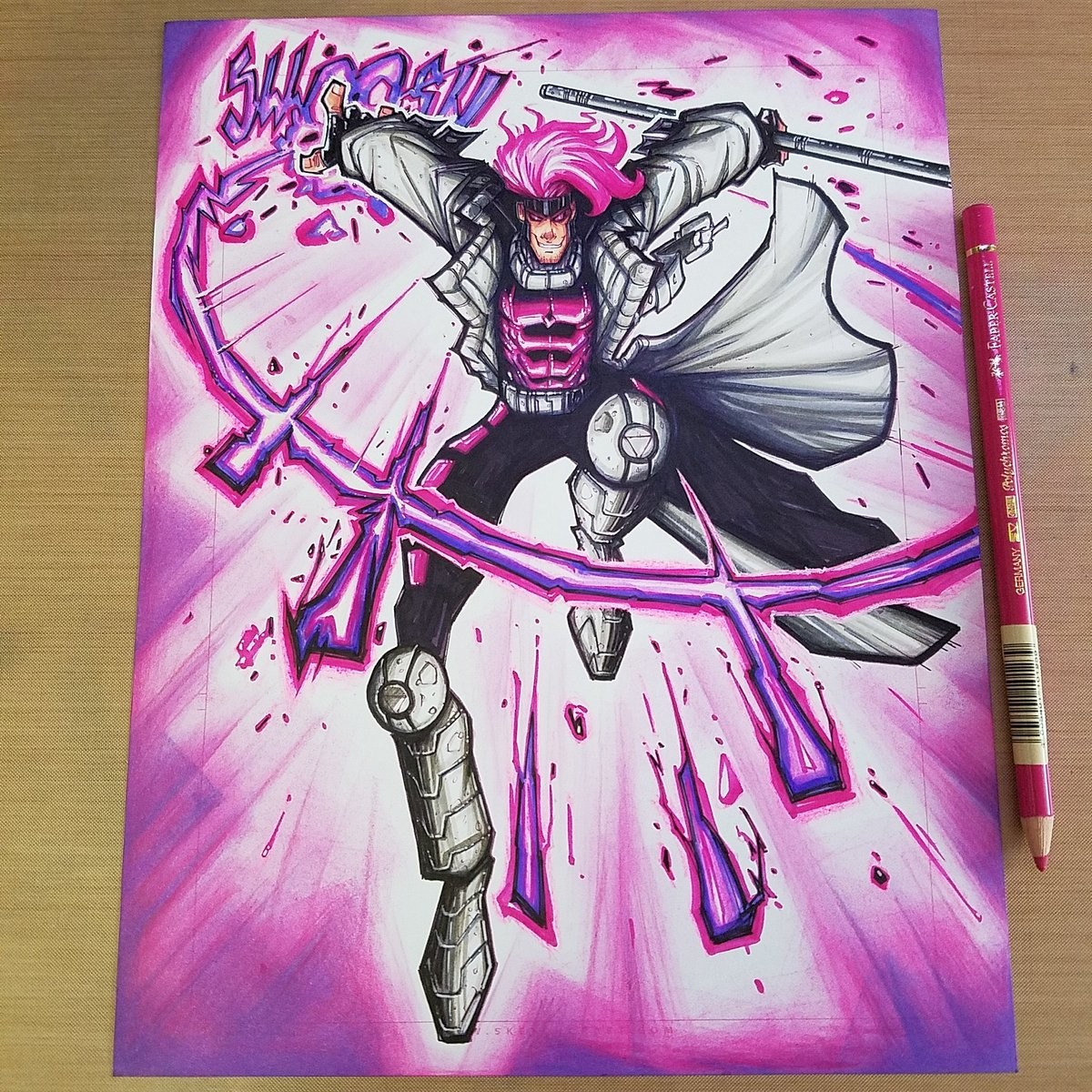 X-Men Gambit Copic Commish