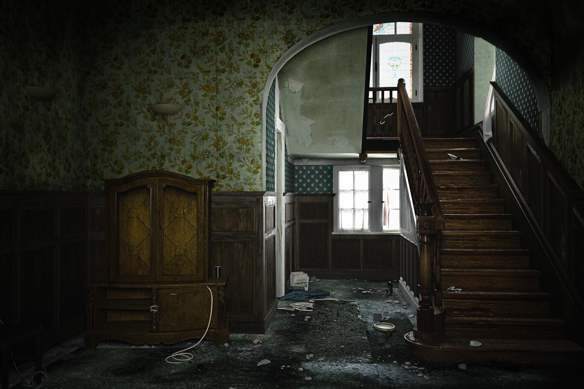Artstation Abandoned Room Villa Albanaise Mido Lai