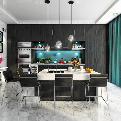 Rally 3d studio kitchen