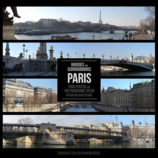 PARIS - Bridges and Surroundings. Gumroad