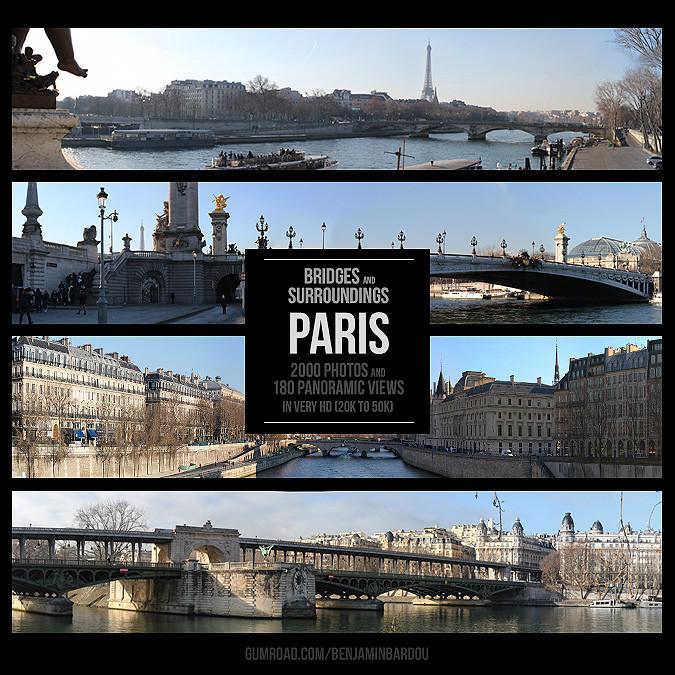 PARIS - Bridges and Surroundings. Gumroad