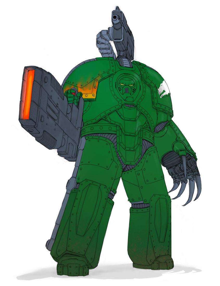 WH40k: Saturnine Terminator Armour
