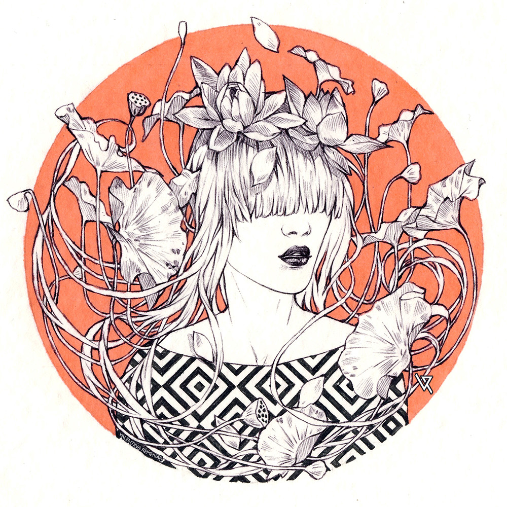 Valentina remenar inktober lotus