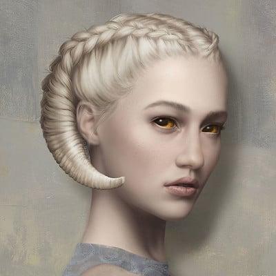 Rene milot duplicitous woman concept illustration rene milot