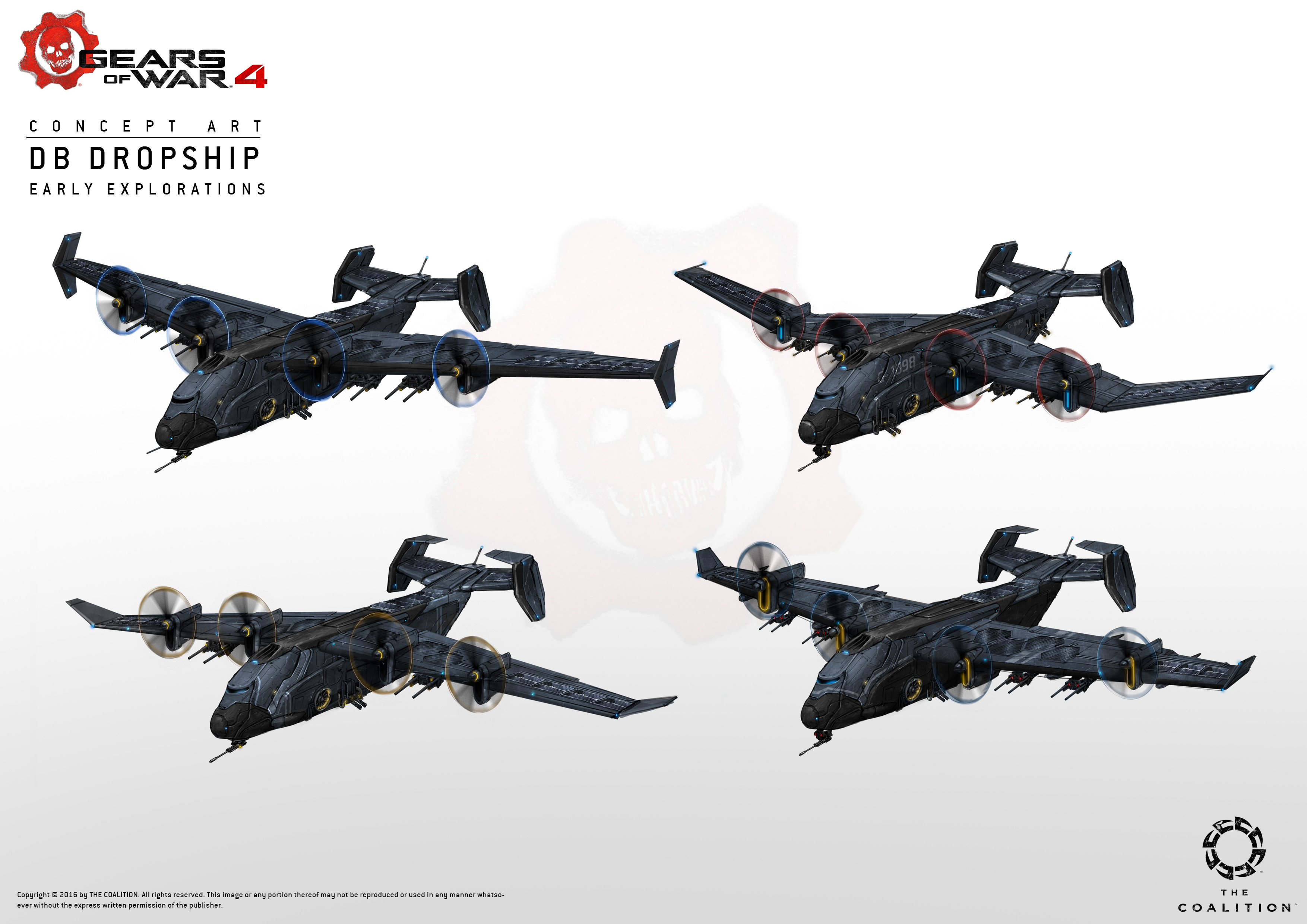 Early explorations for the vulture dropship