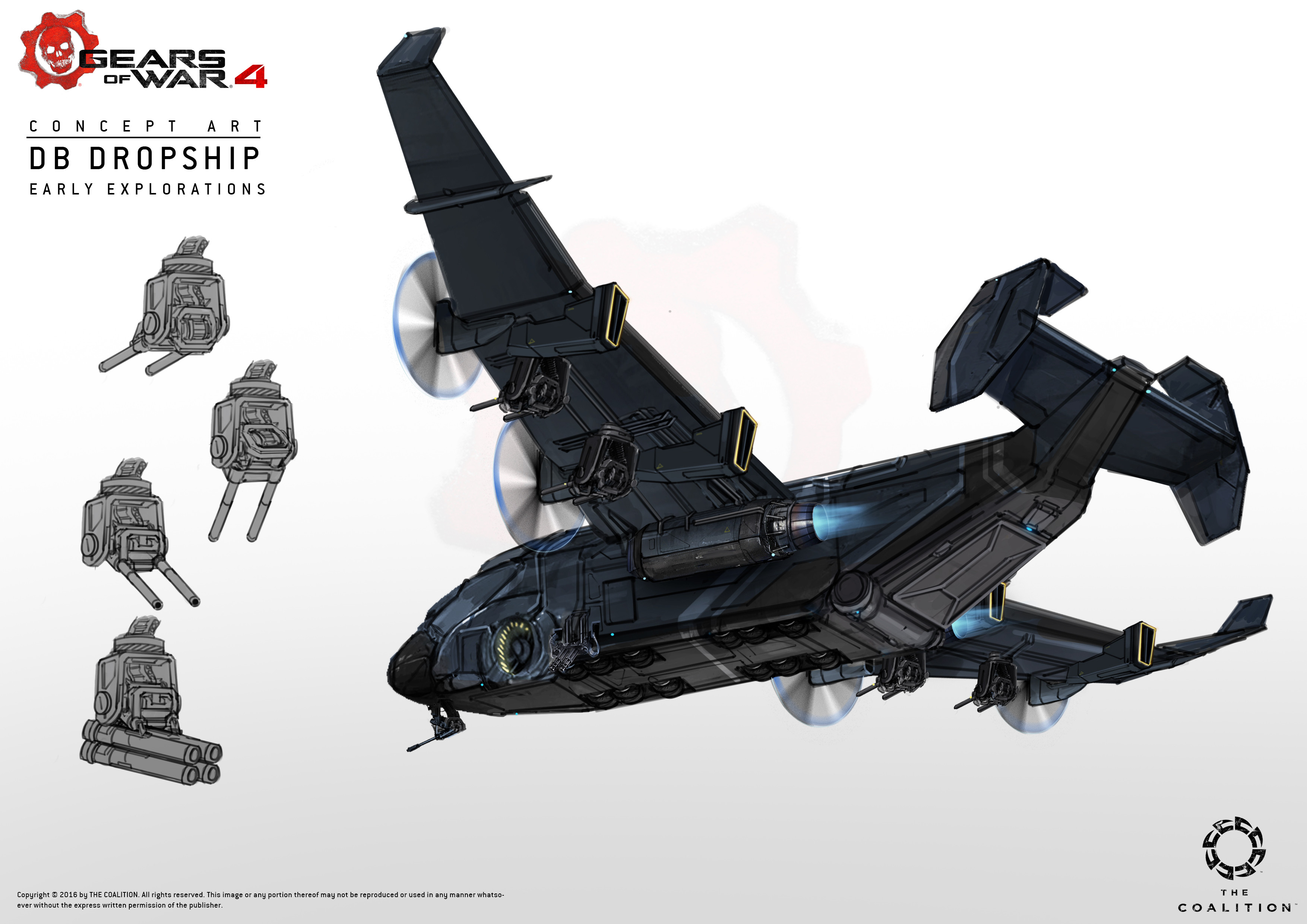 Early explorations for the vulture dropship,i think they went on to model this right away after some internal tweaks