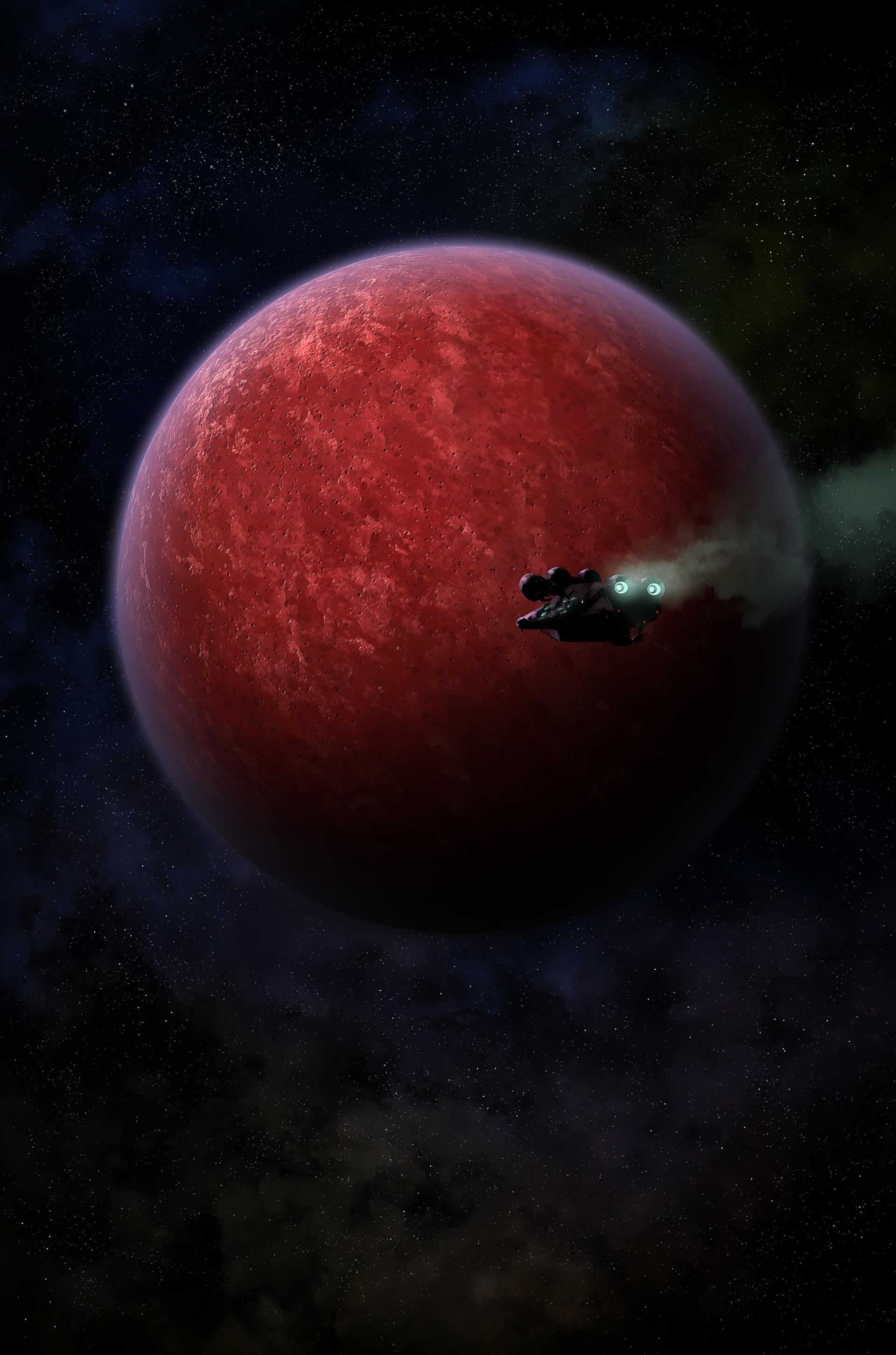Pierre santamaria planet red moon copie