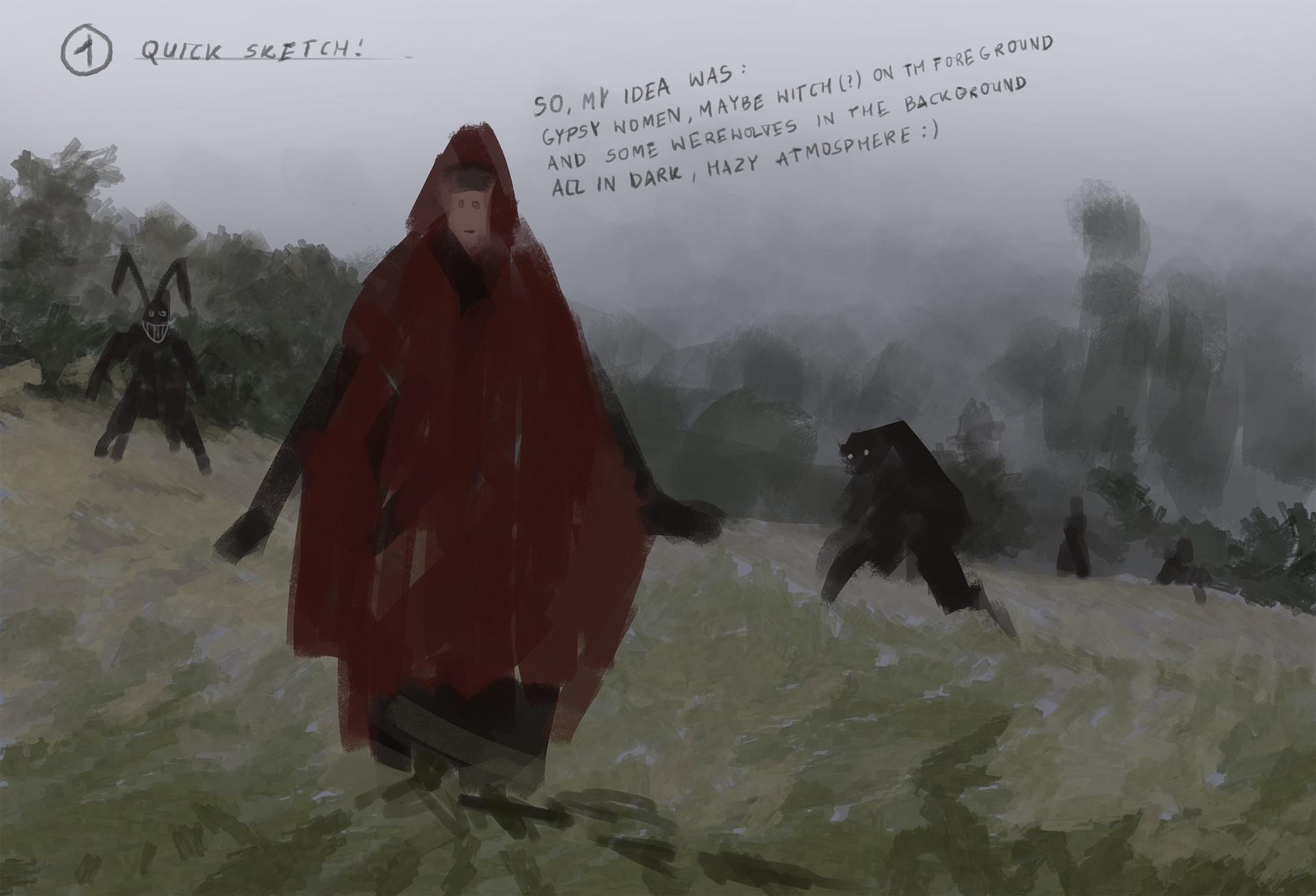 Jakub rozalski wolf bride process1