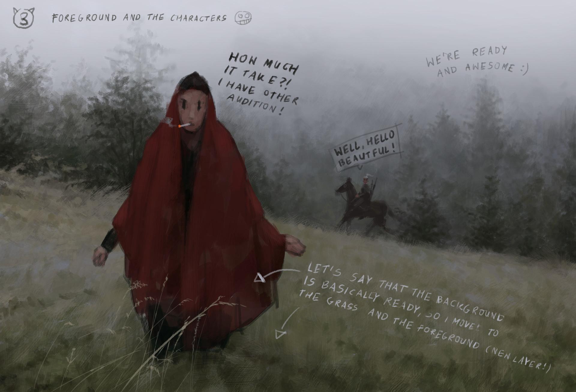 Jakub rozalski wolf bride process3