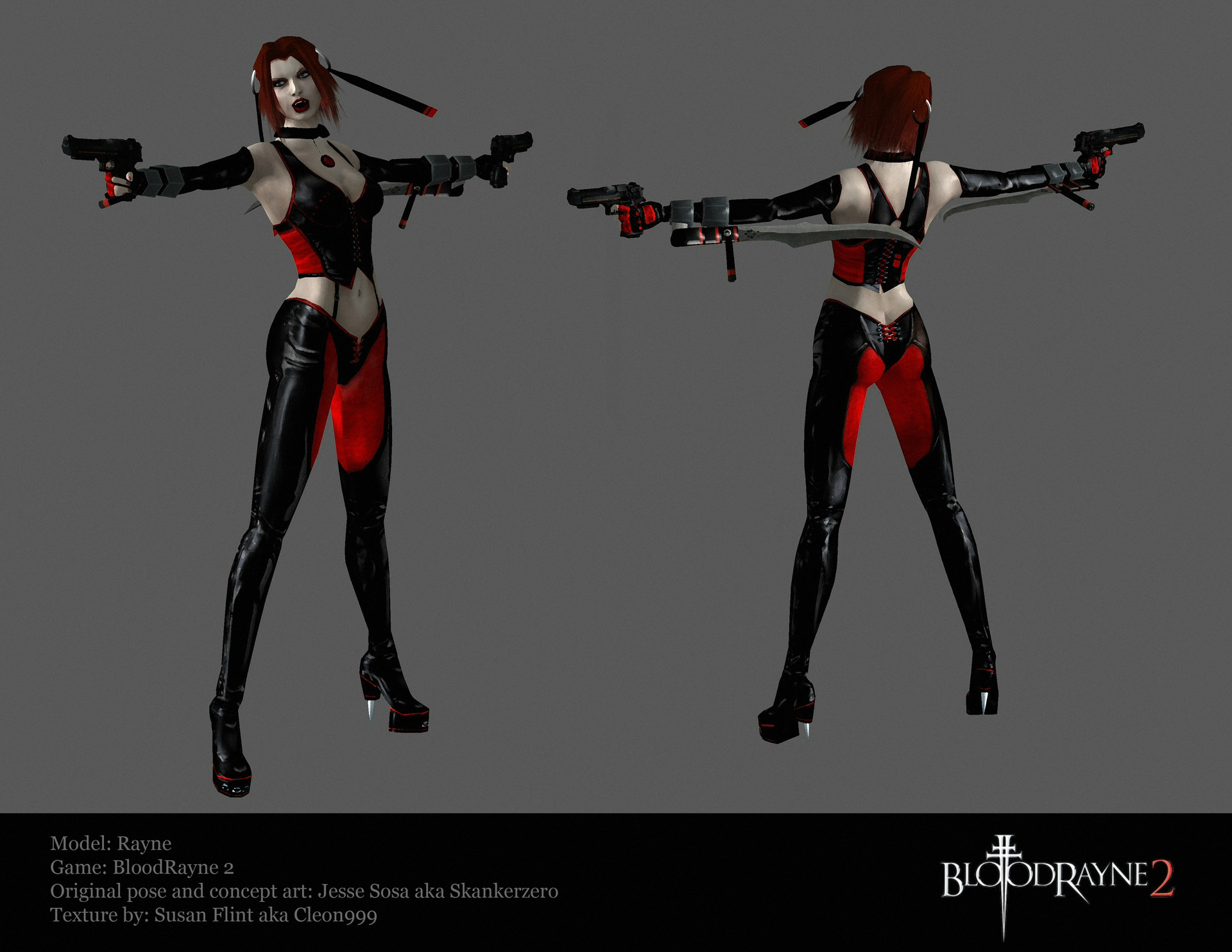 Artstation Bloodrayne 2 New Texture Susan Flint