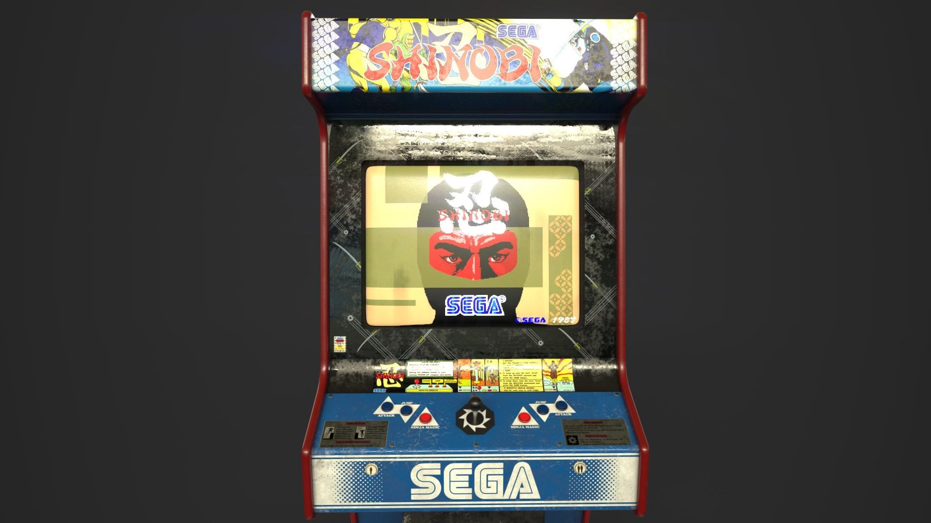 Alan Mealor Shinobi Arcade Cabinet Updated