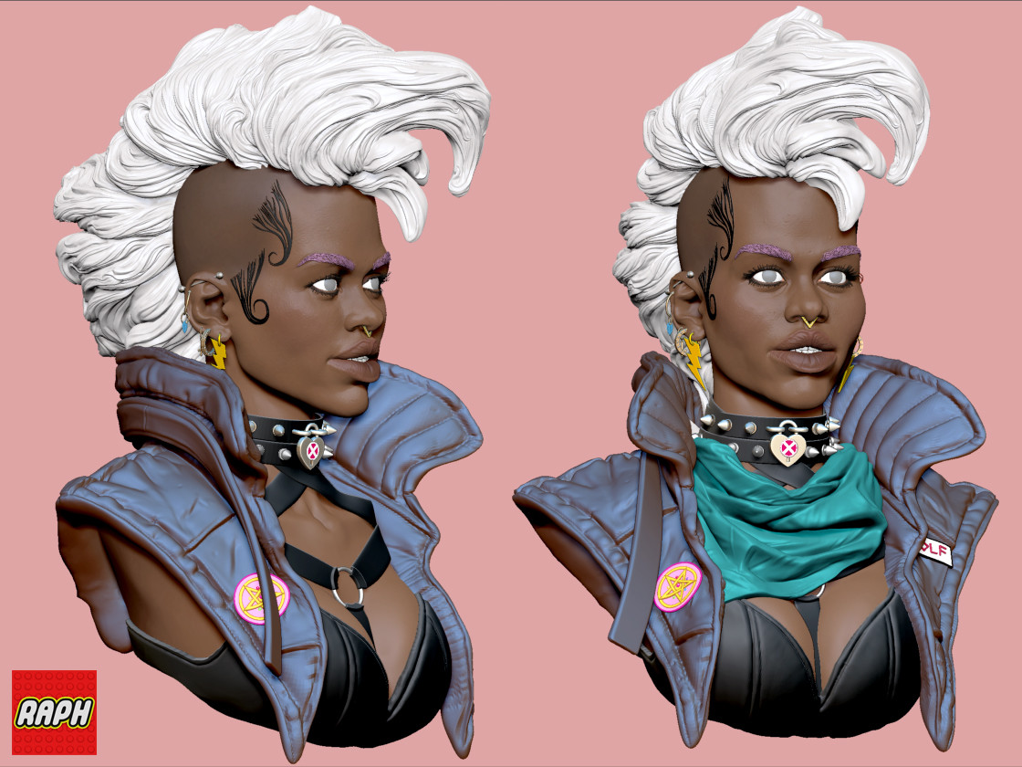 Sketch of the goddess, Storm (with the O.G. Mohawk