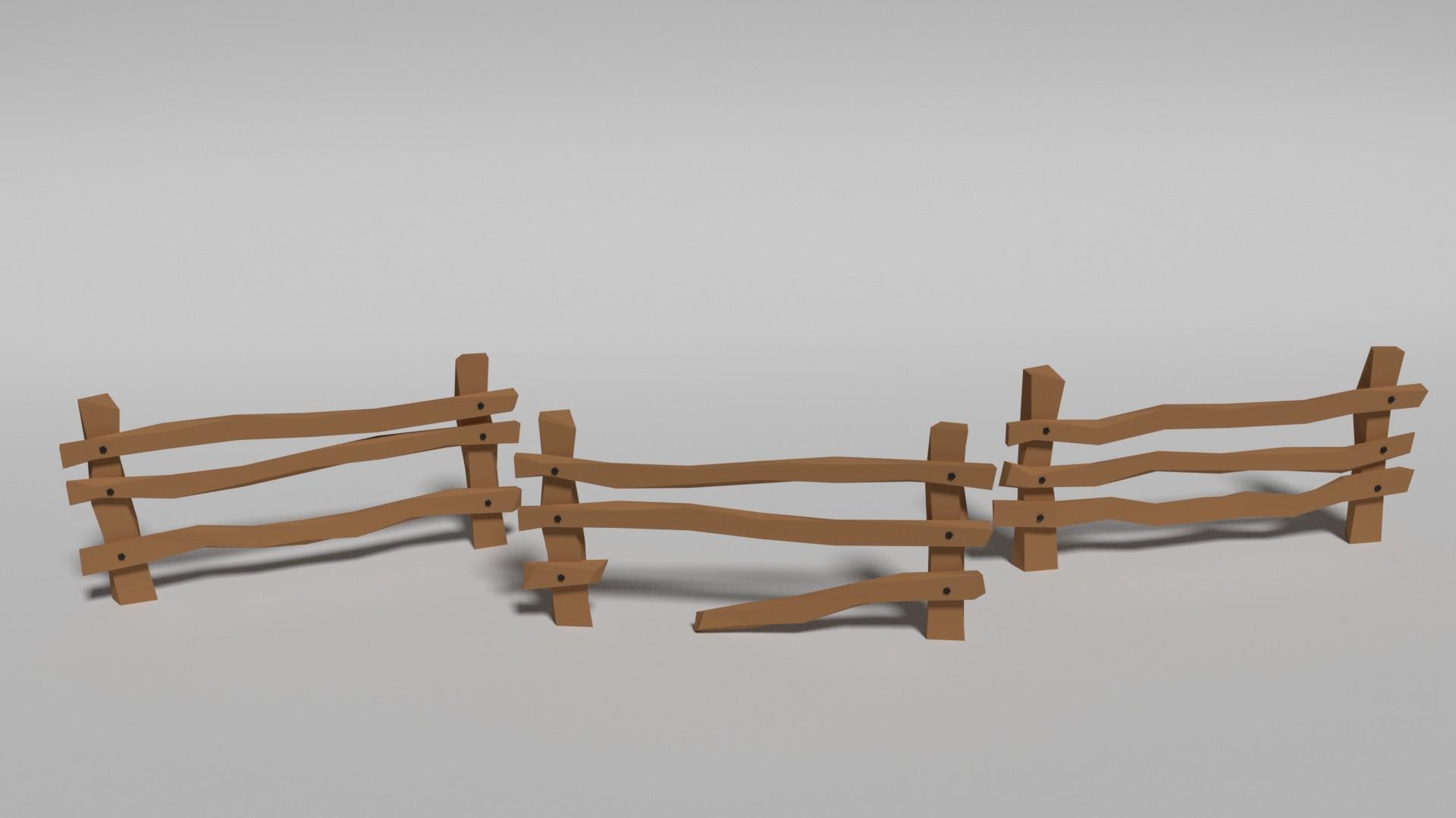 ArtStation - Low Poly Fences, Nichole John Romero