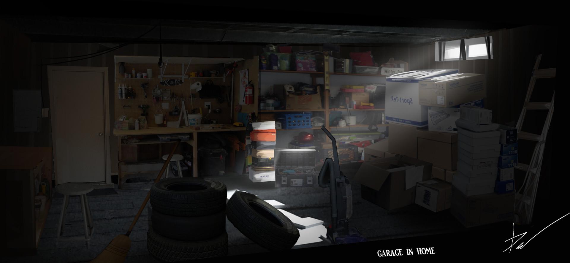 Alexander demakov concept art garage for Garage concept auto