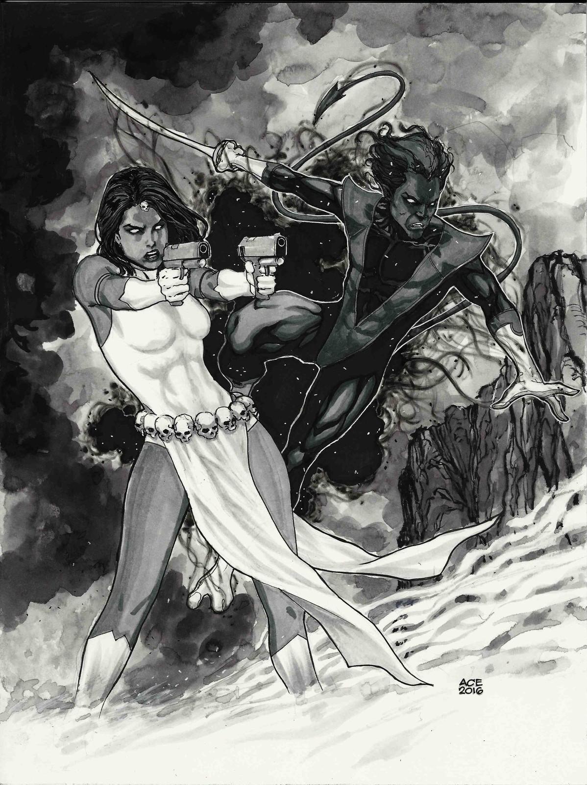 Mystique and Nightcrawler commission