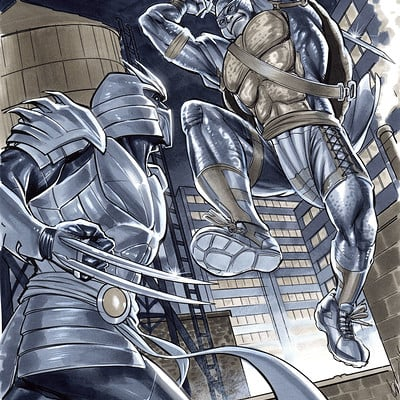 Marco santucci leonardo vs shredder