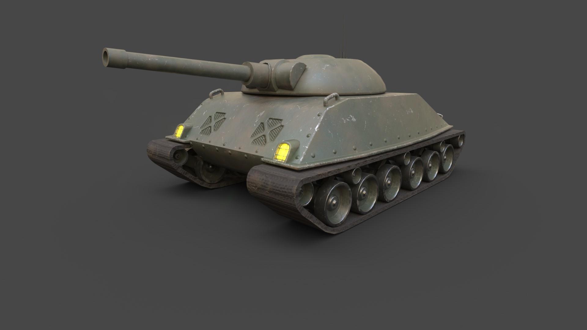 Alican Sayan Low Poly Cartoony Sherman Tank