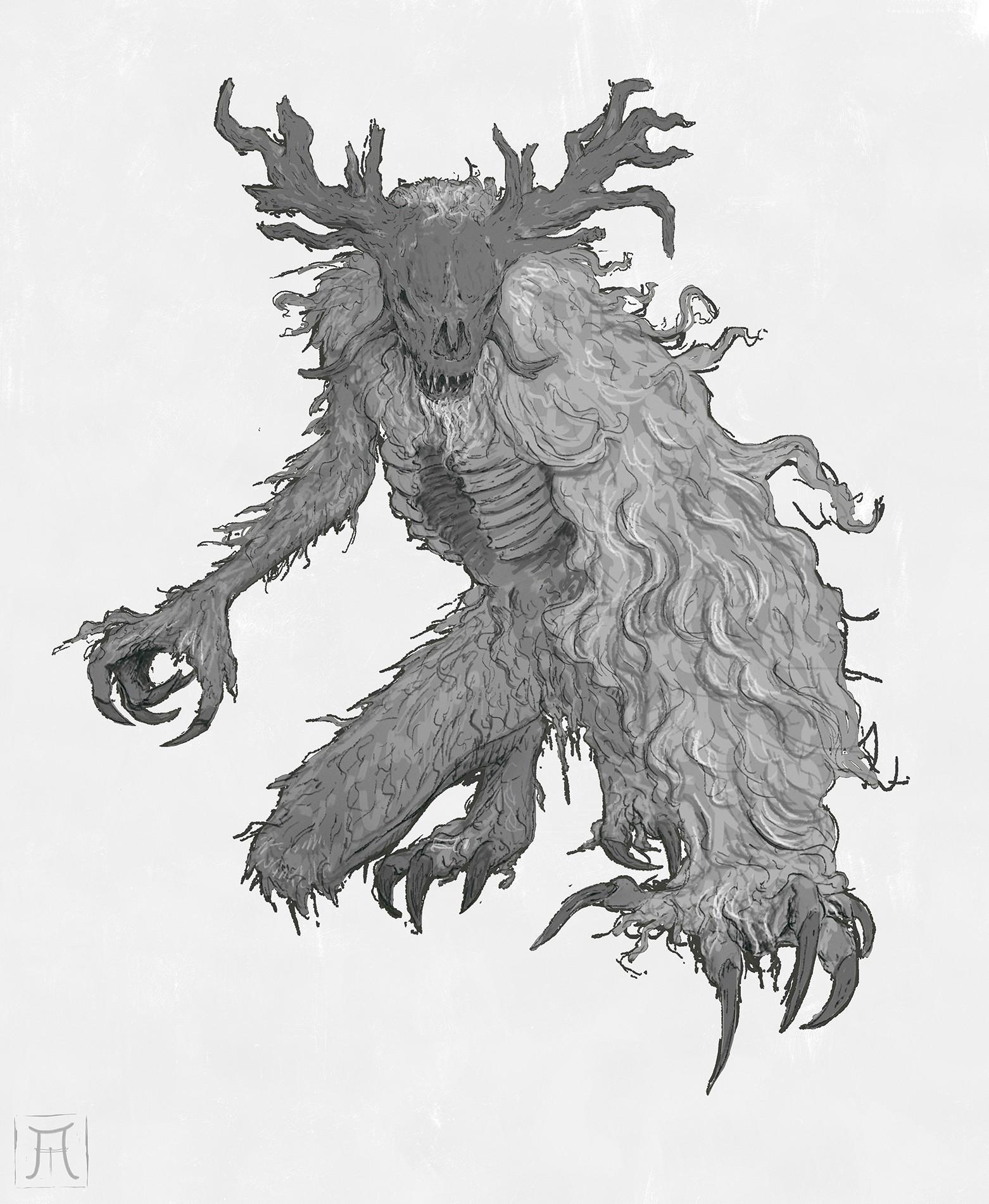 ArtStation - Cleric Beast, Igor Krstic: https://www.artstation.com/artwork/nBbL6
