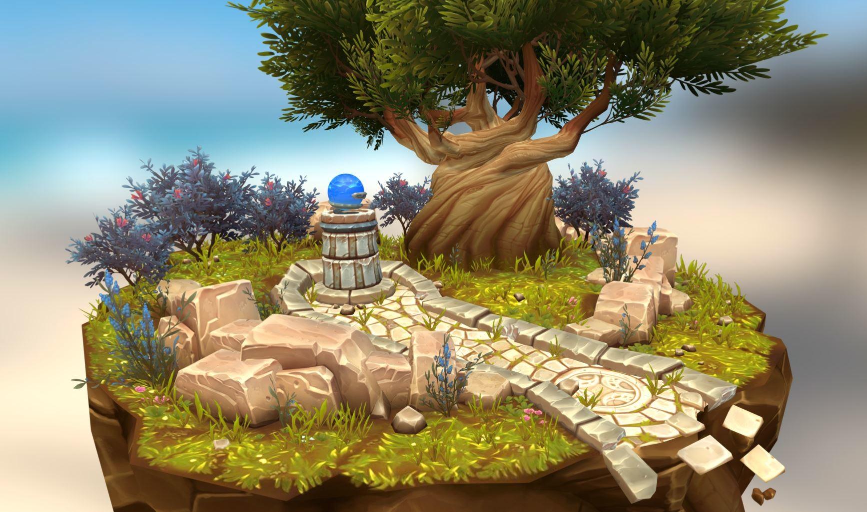 ArtStation - World of Warcraft style tree Diorama Updated 1/21/17 ...
