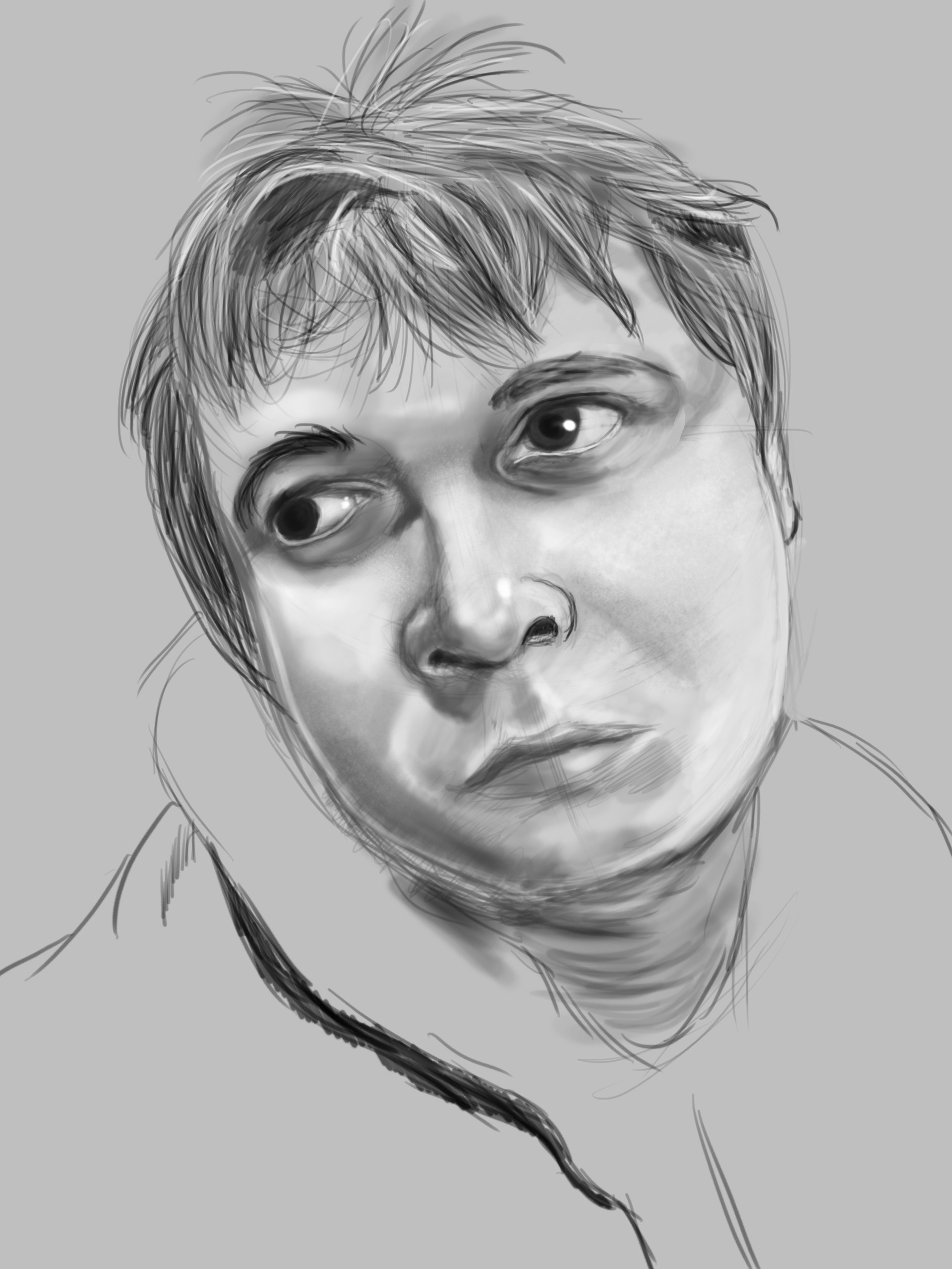 Self portrait done in Photoshop