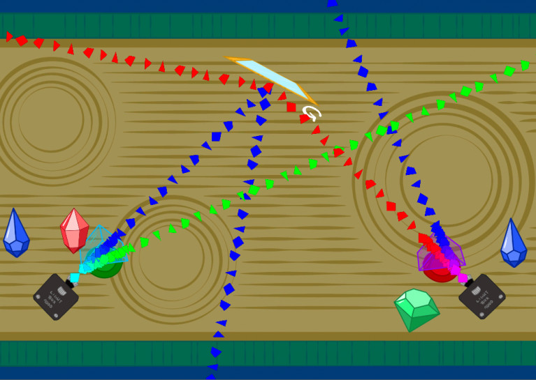 Screen shot from the final game.