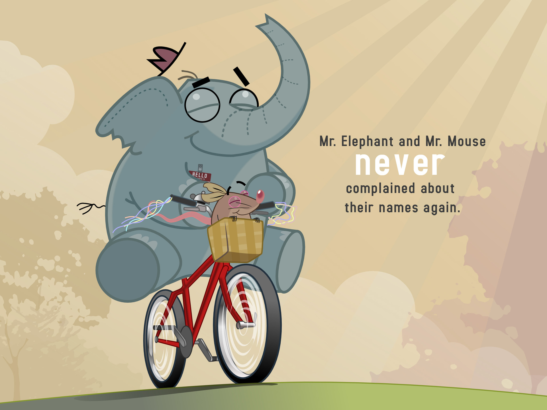 Mr. Elephant & Mr. Mouse. Bike
