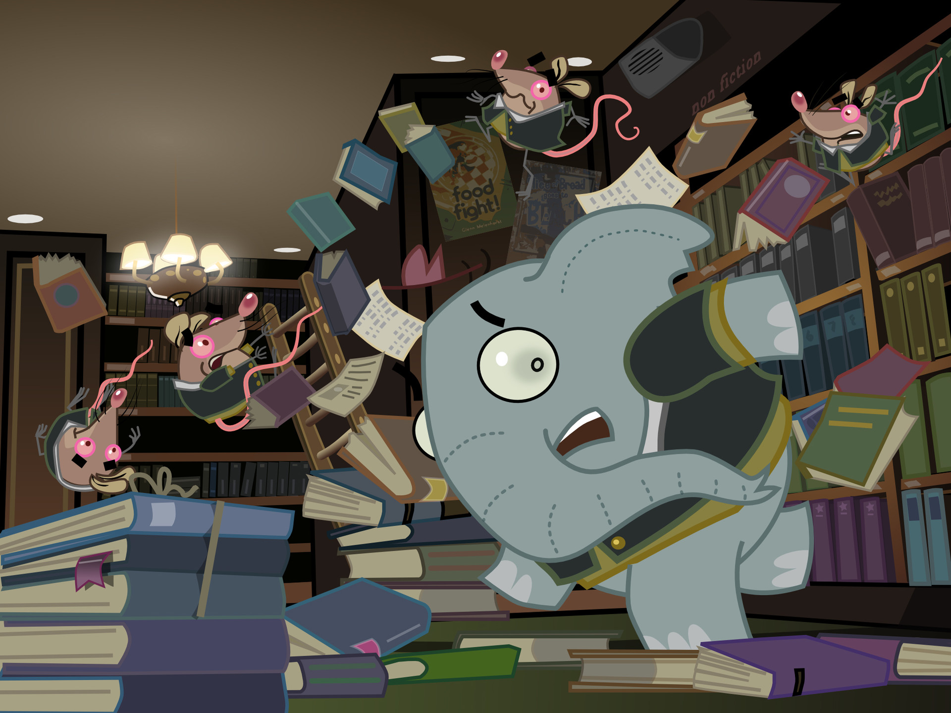 Mr. Elephant & Mr. Mouse. Library