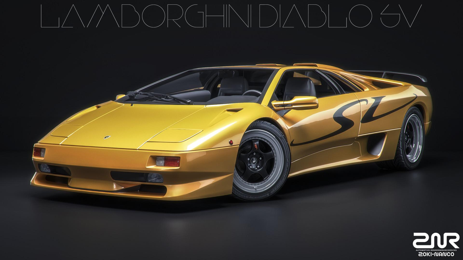 Artstation Lamborghini Diablo Sv Zoki Nanco Nancorocks Znr3d