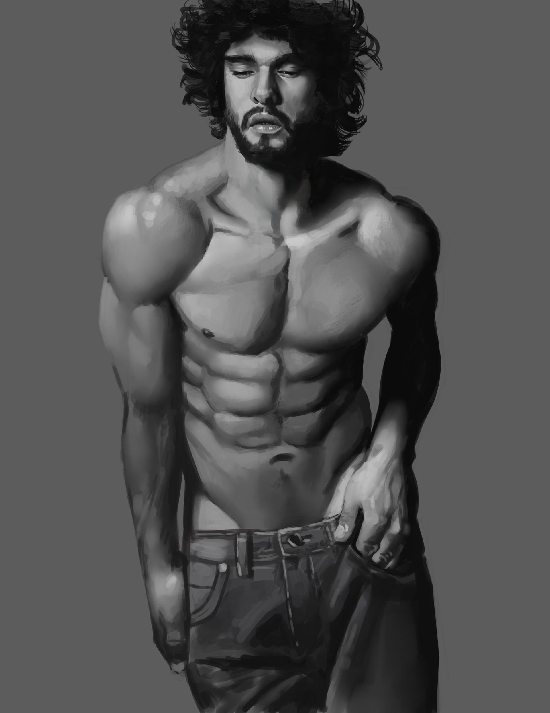 Servando Lupini - Male Anatomy studies-01