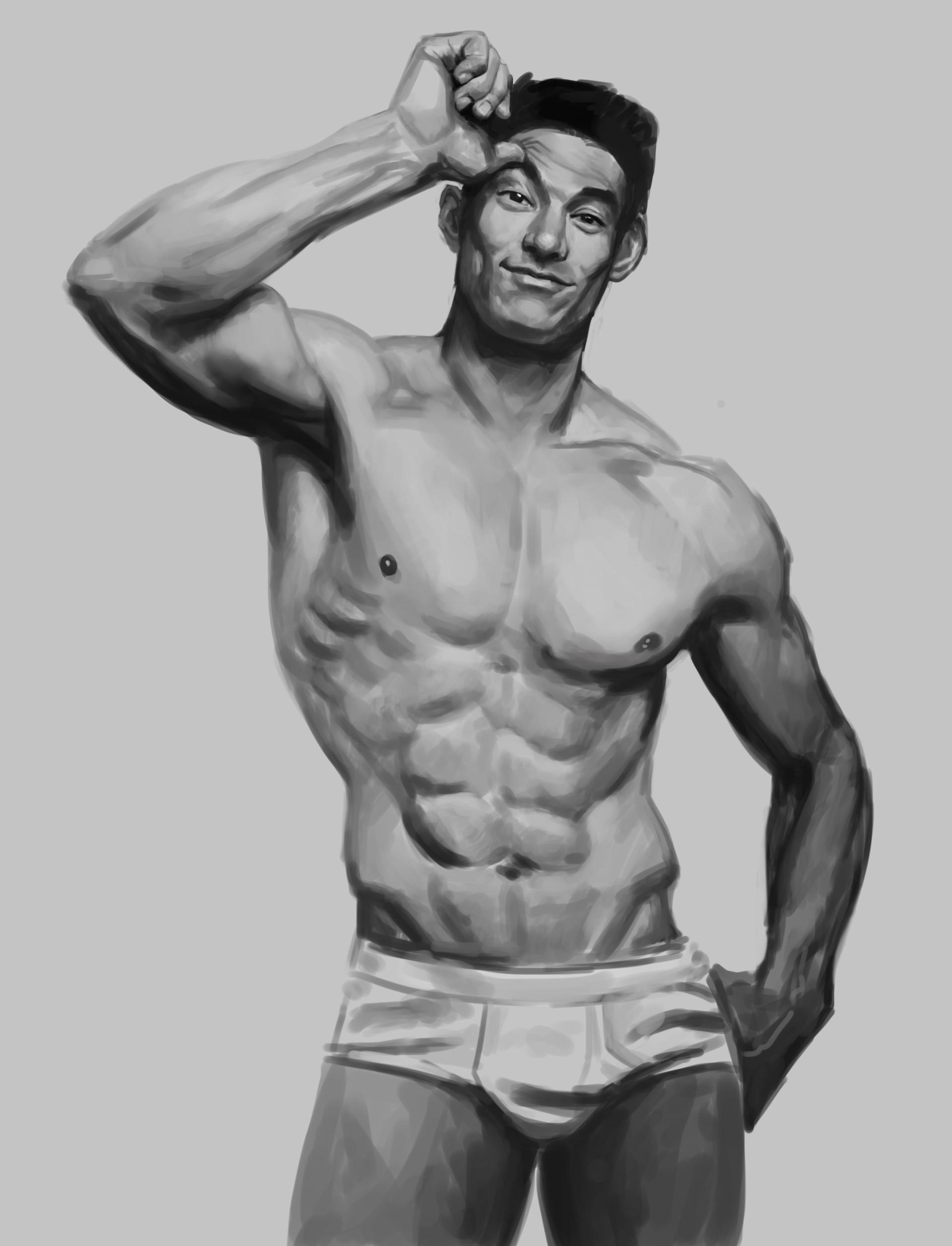 ArtStation - Male Anatomy studies-01, Servando Lupini