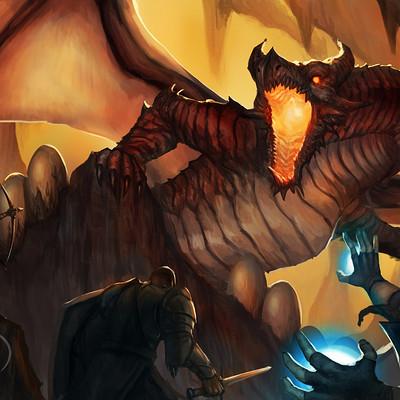 Olie boldador dragonscene02signed
