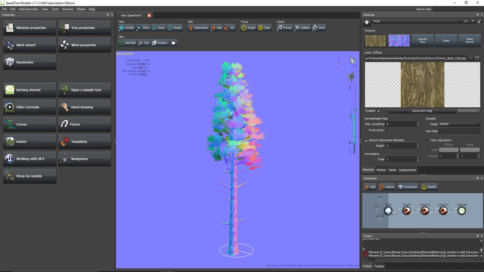 ArtStation - Pine Tree for Unreal Engine 4, Rodrigo García