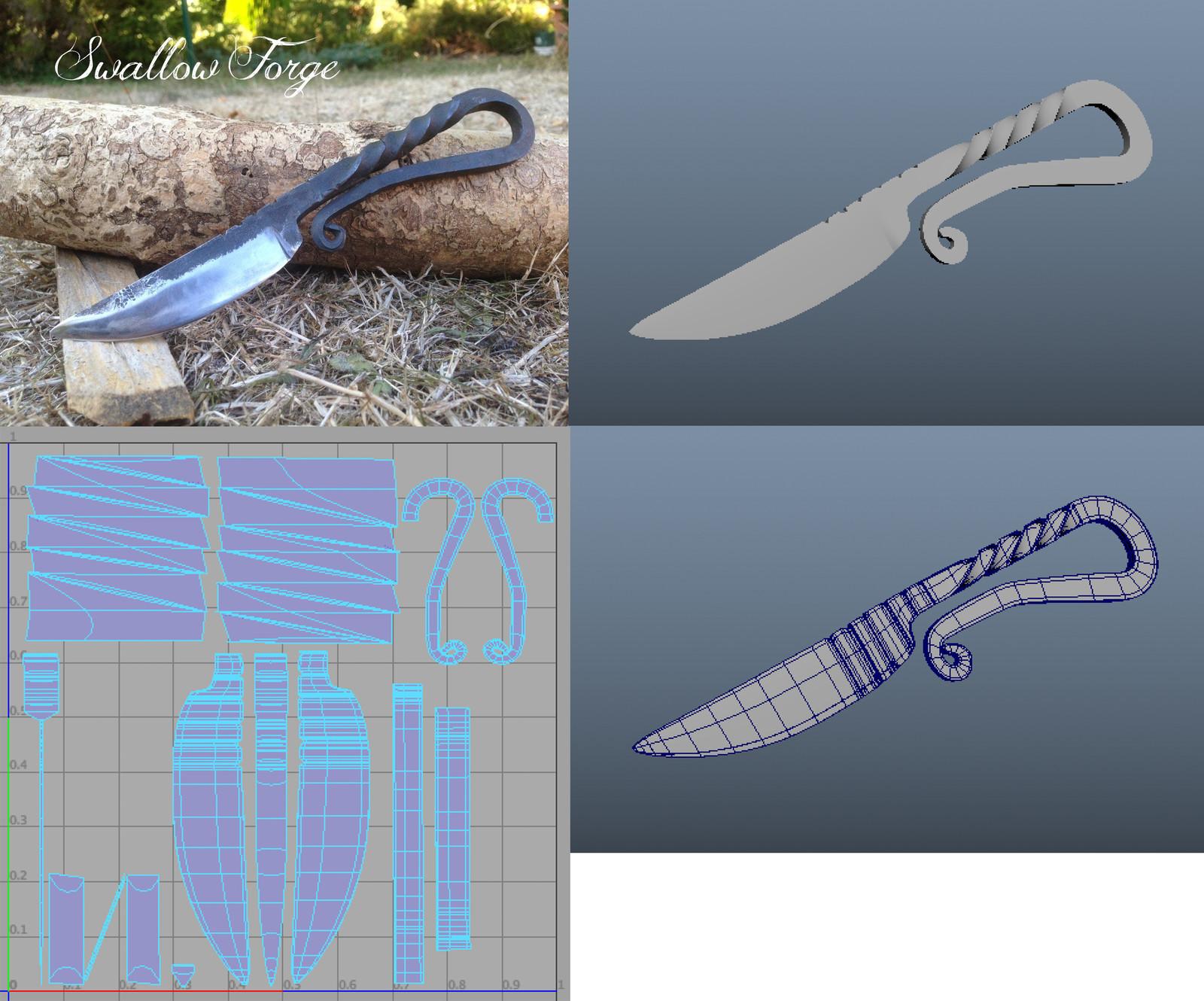 'Knife' with UVs
