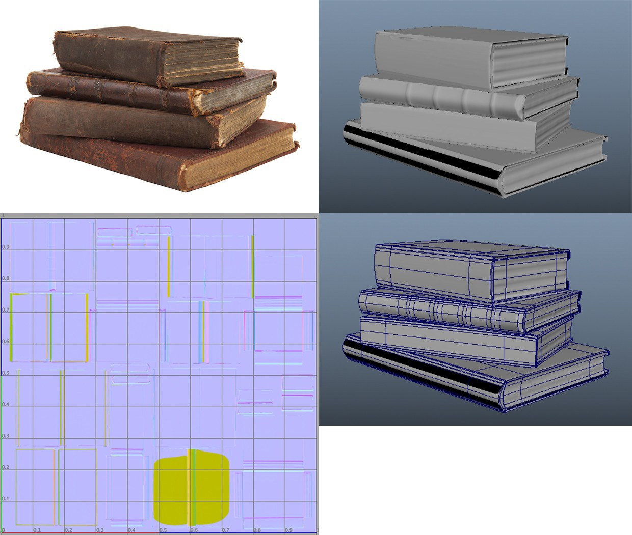 'Books' with UV and detail