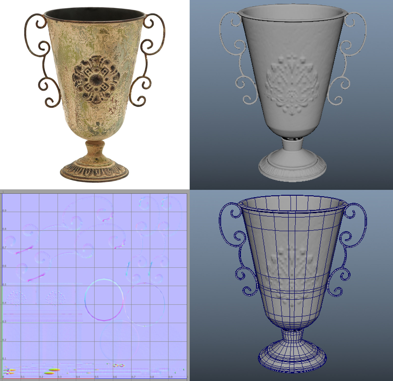 'Vase' with UV and detail