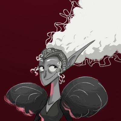 Vivien lulkowski clean vampire lady with white hair