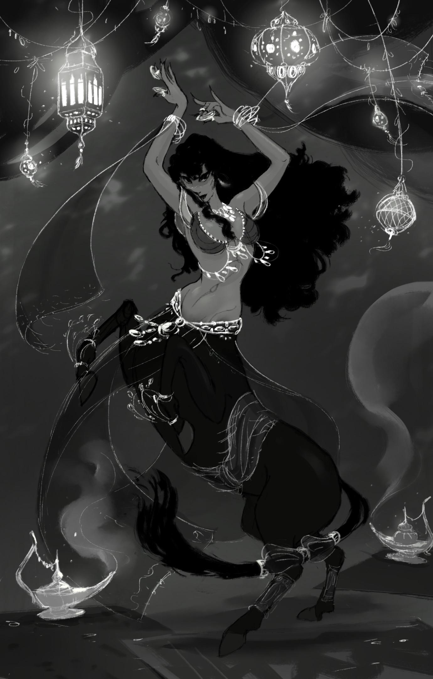 Vivien lulkowski belly dancer centaur