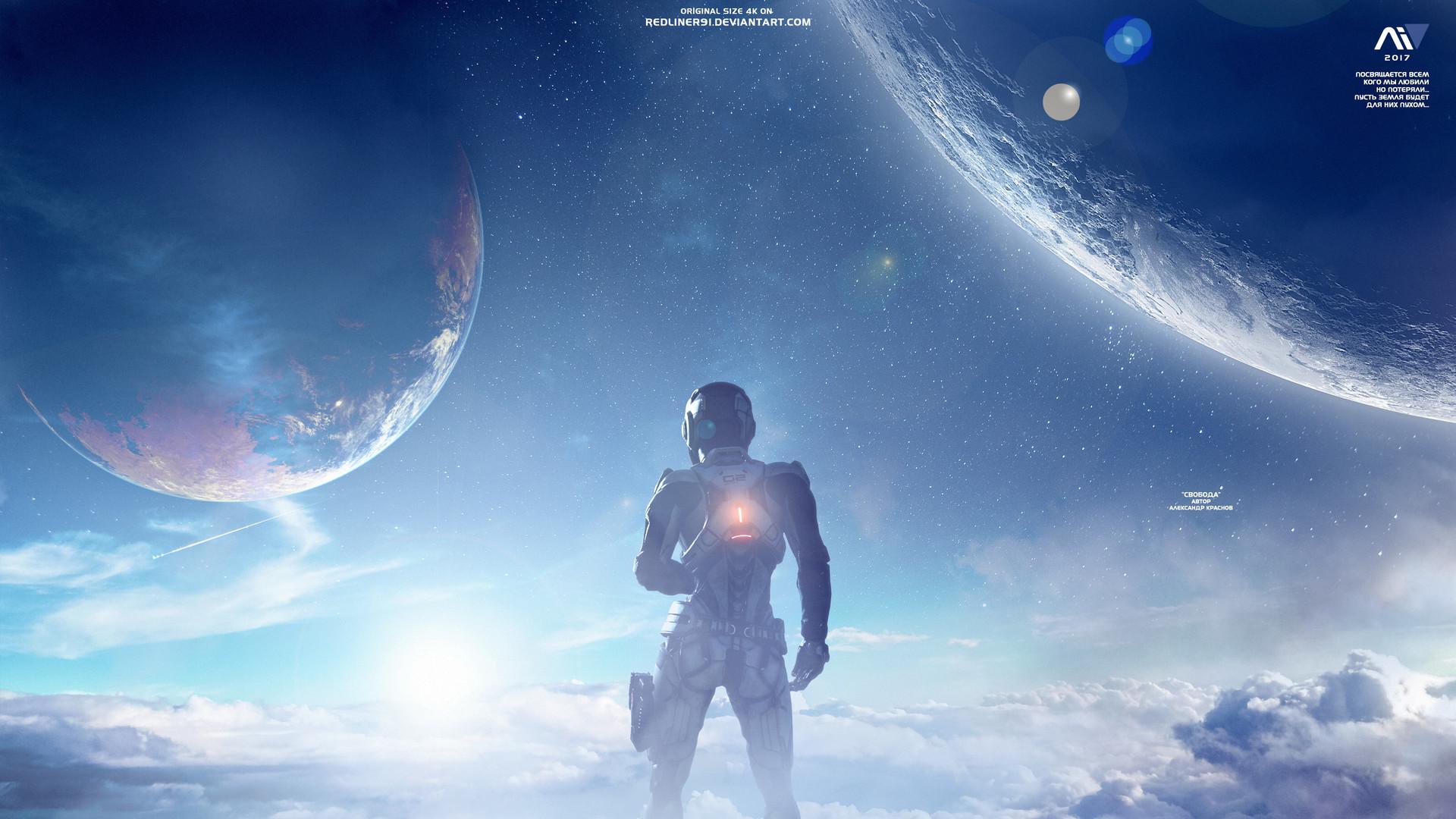 Alexander Krasnov Freedom Mass Effect Andromeda 4k