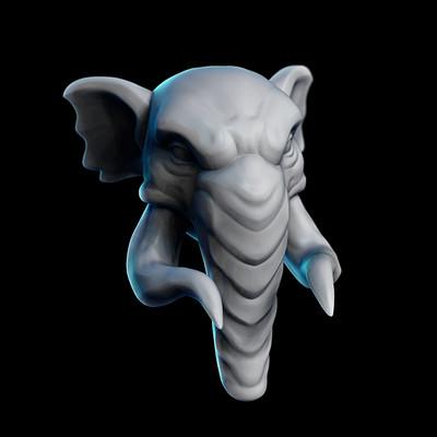 Allan loenskov elephant render